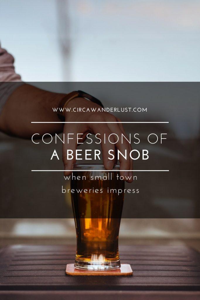 beer snob, micro breweries