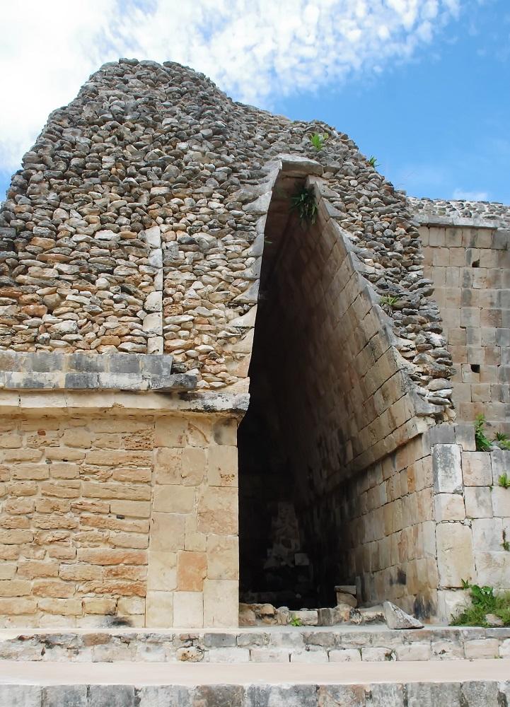 mayan ruins on the yucatan, uxmal