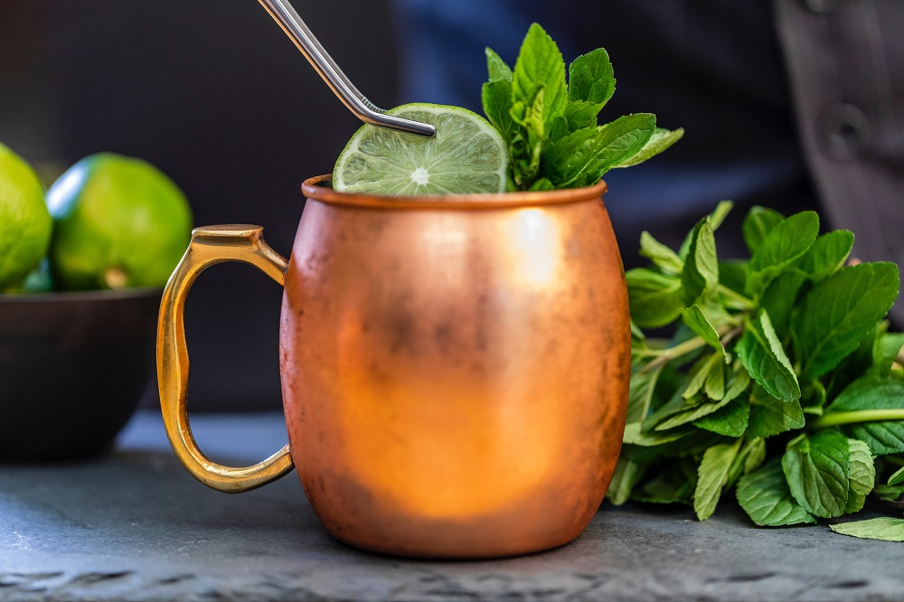moscow mule, holiday drinks