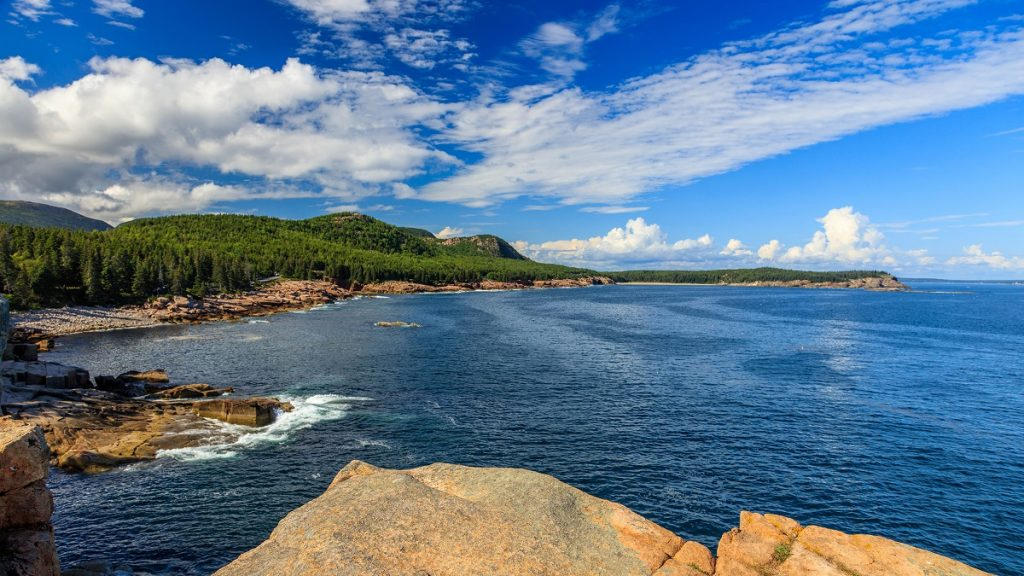 acadia national park, coastline