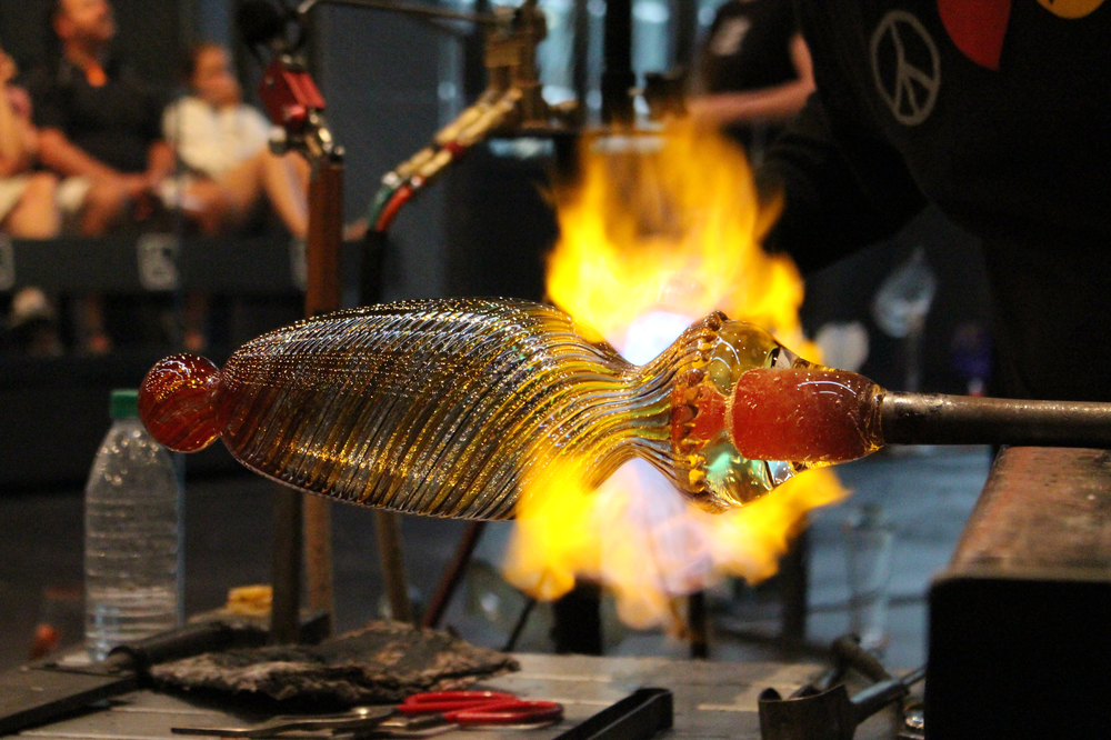 Finger Lakes Wine Country, glass blowing