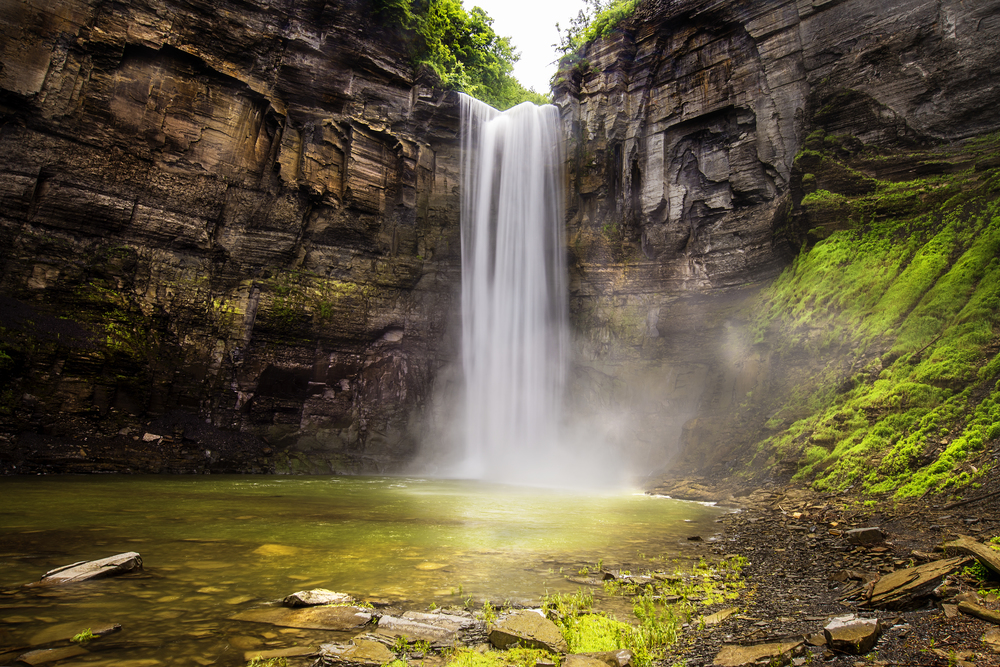 Finger Lakes Wine Country waterfall