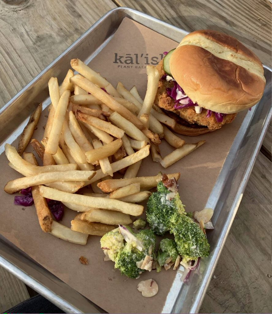 Kalish vegan chicken sandwich