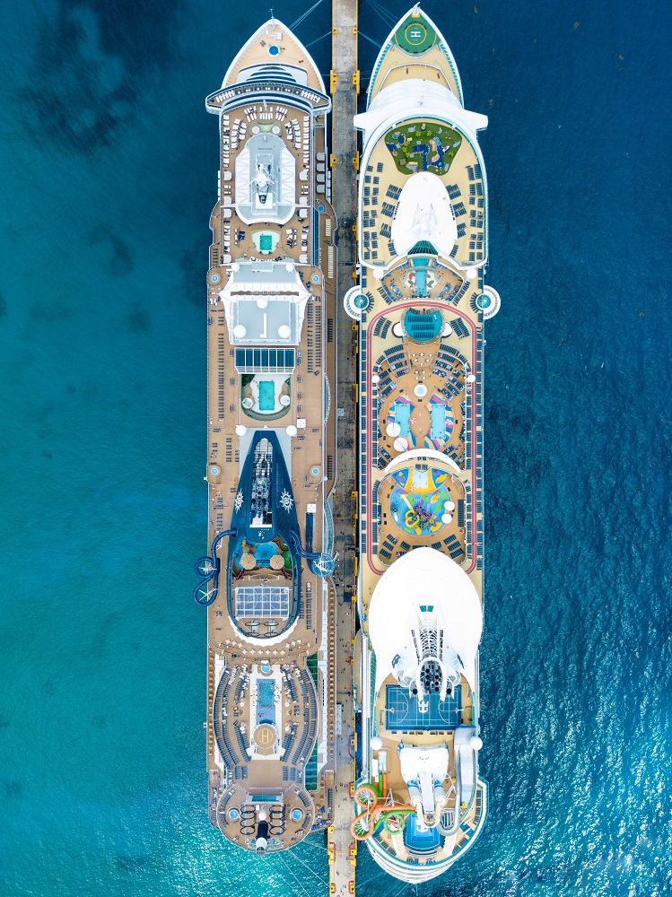cruise tips, cruise ship birds eye view